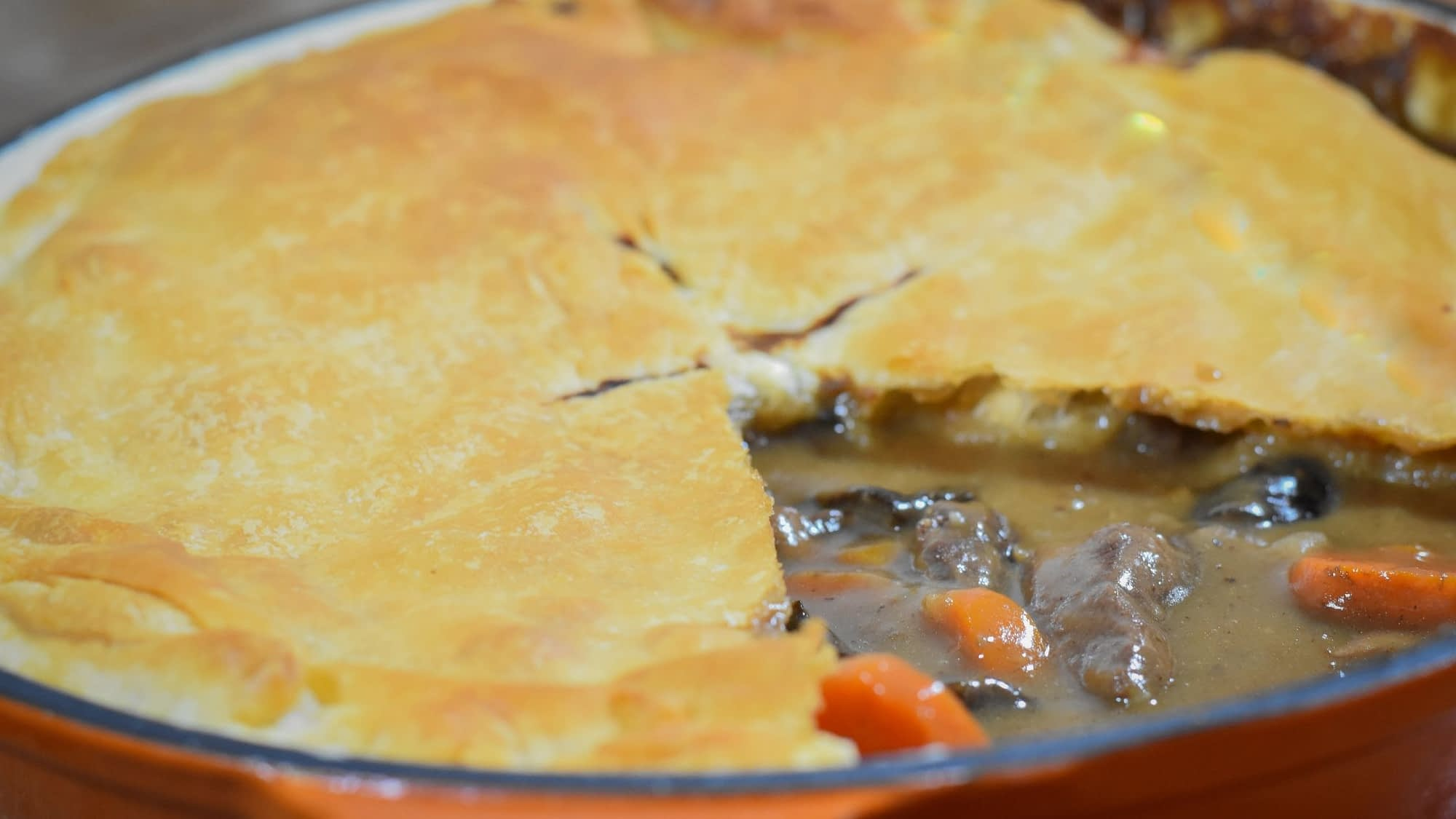 Venison steak and kidney pie